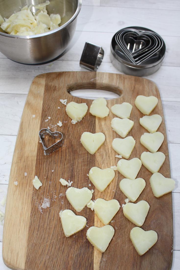 Heart Shaped Sauteed Potatoes
