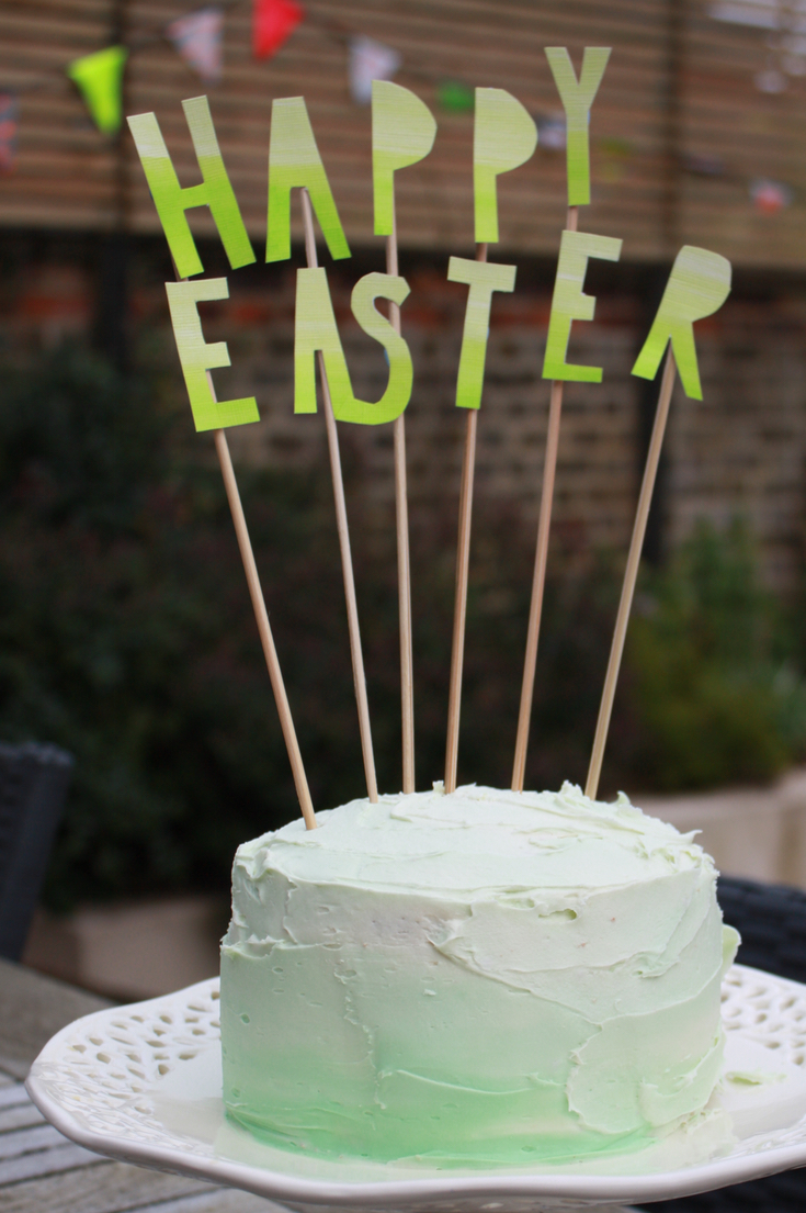 Easy Ombre Cake Topper Instructions with Ombre Cake