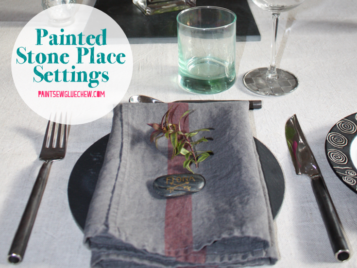 Painted Pebble Place Name Settings