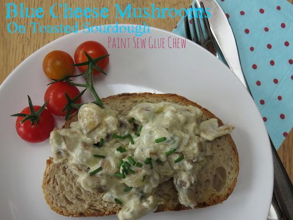 Blue Cheese Mushrooms on Toast