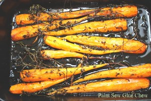 Roasted Carrots with lemon and lemon thyme
