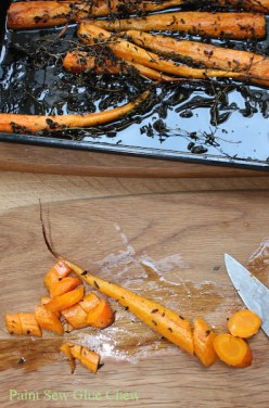 Roasted lemon thyme carrots