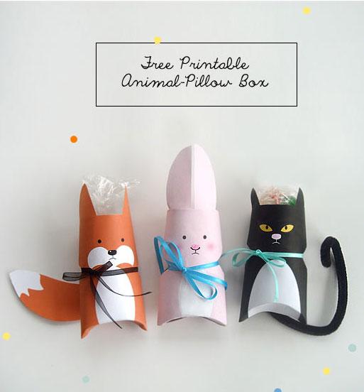 Animal gift wrap idea