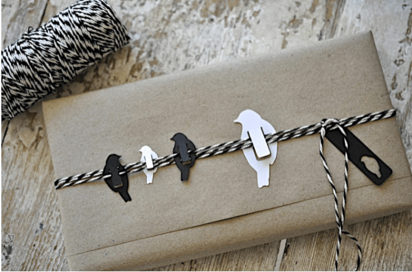 Birds on a wire gift wrap