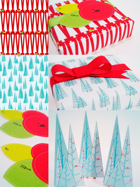 Bright Gift wrap DIY