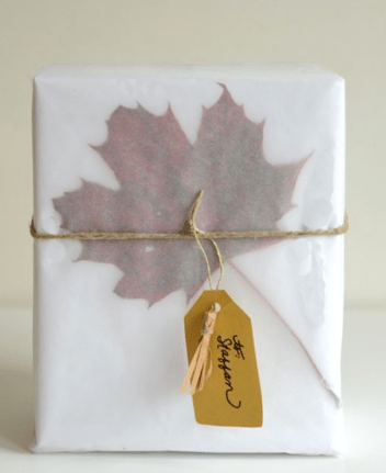 Dried Leaves gift wrap