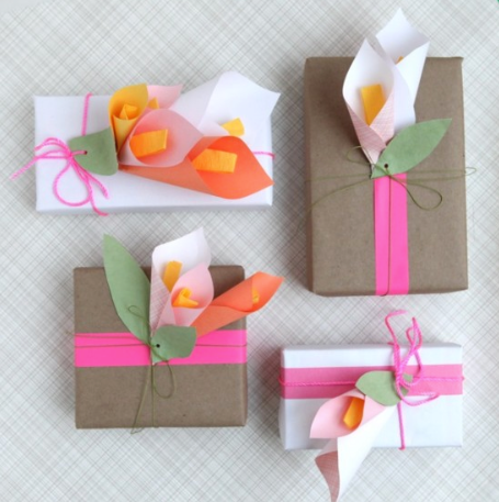 Paper Cala Lillies gift wrap