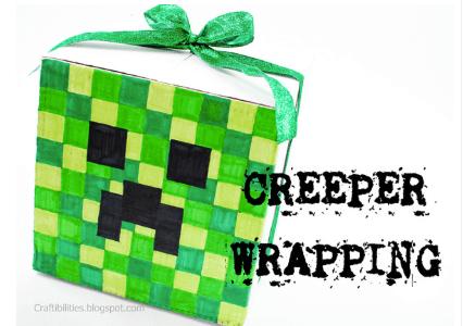 DIY Minecraft Gift Wrap
