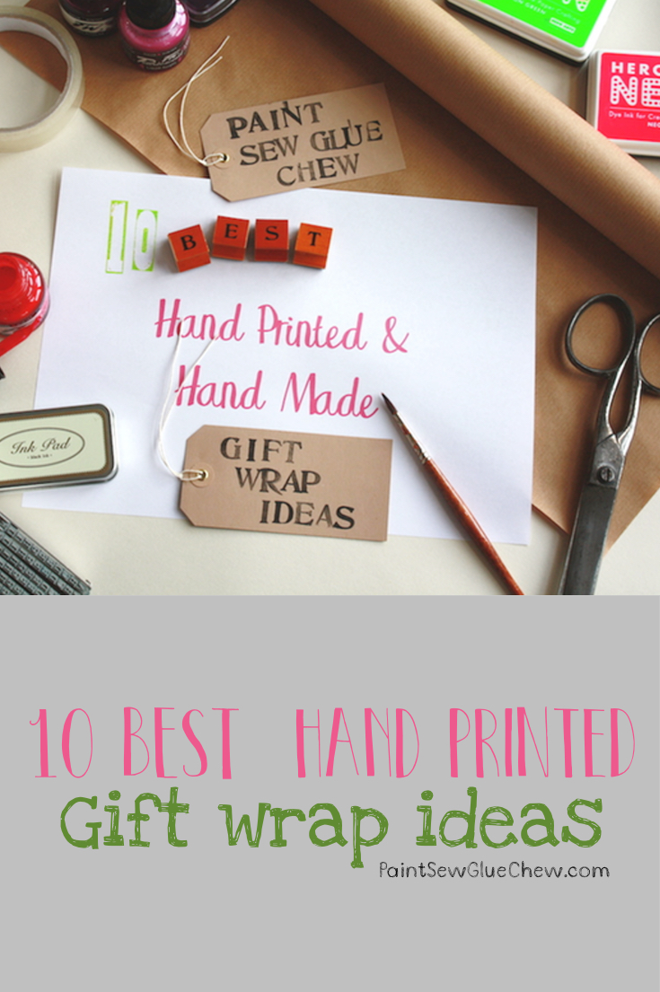 Gift Wrap Ideas (1): Hand Printed & Hand Made