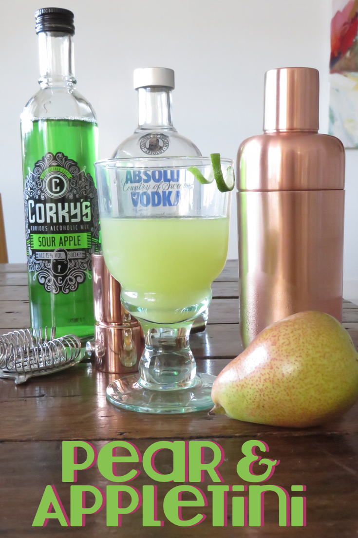 Apple and Pear Cocktail - Apeartini