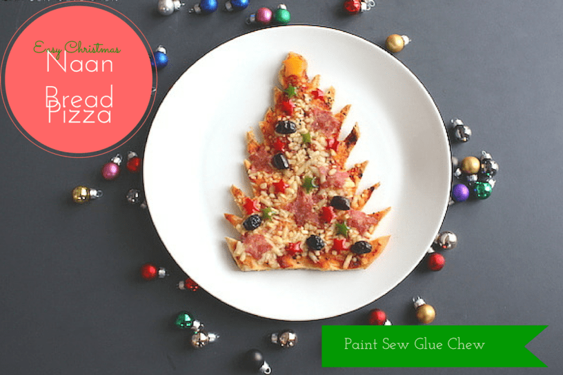 Christmas Tree Naan pizza