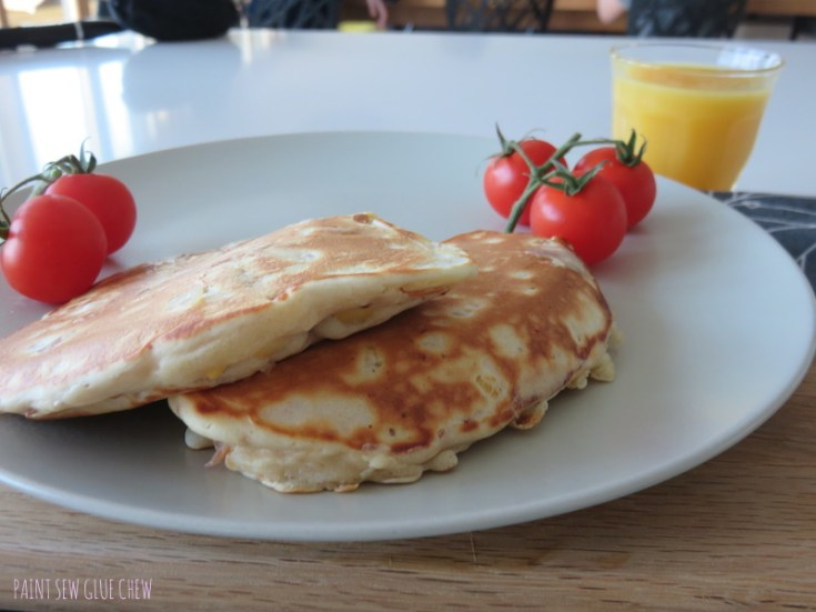 Sweetcorn Pancakes With Parma Ham