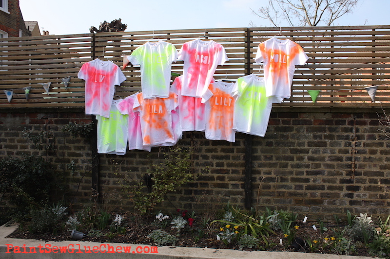 Make your own fluorescent t shirts