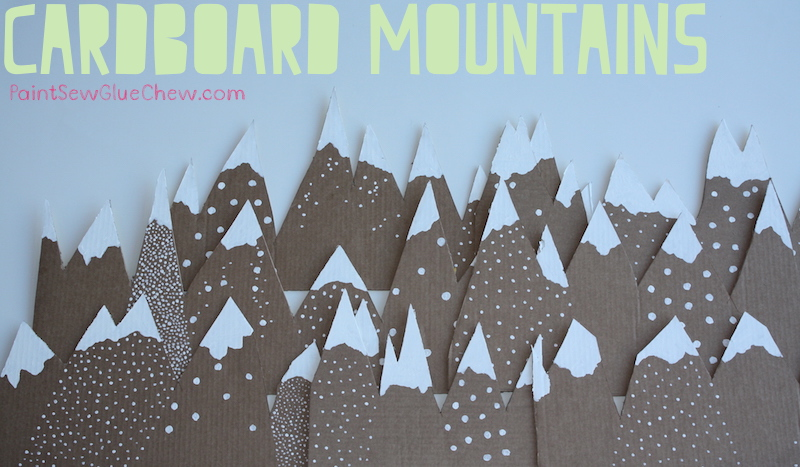 Cardboard mountains