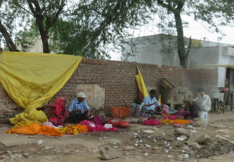 Flower sellers in India