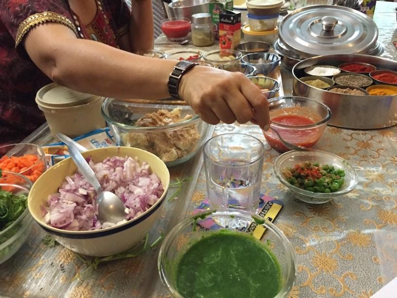 tikki with peas