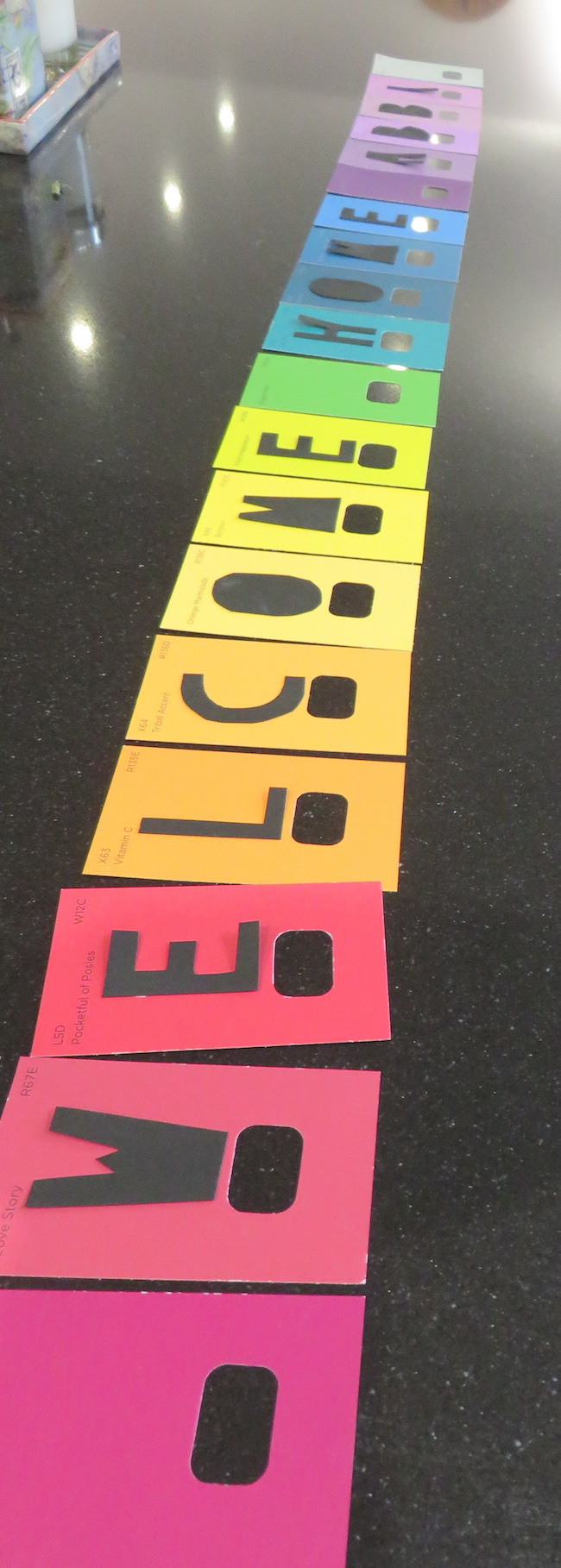 paint chip banner instructions