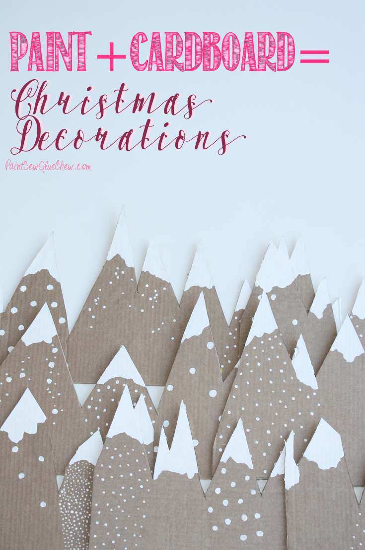 cardboard mountain christmas decorations - Cardboard Christmas Decorations