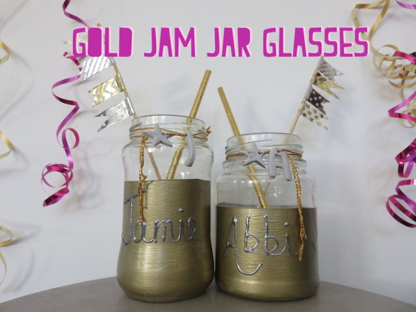 Gold Jam Jar Glasses