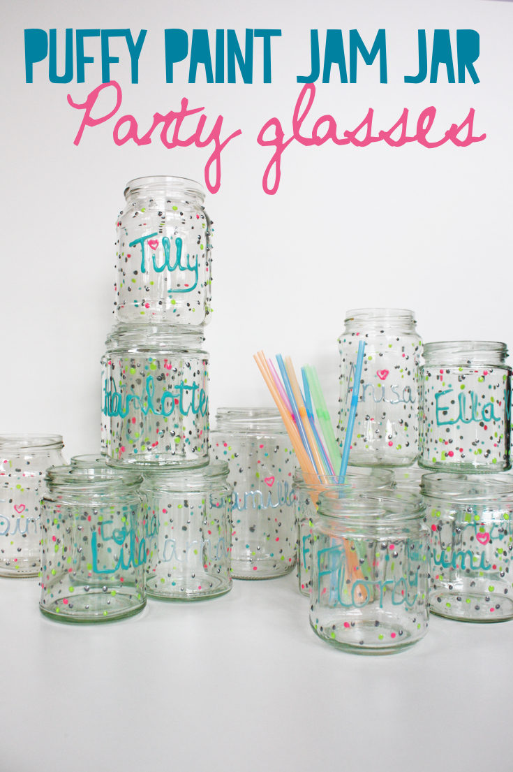 Unique Party Idea Kids will Love: Personalised Jam Jar party Glasses