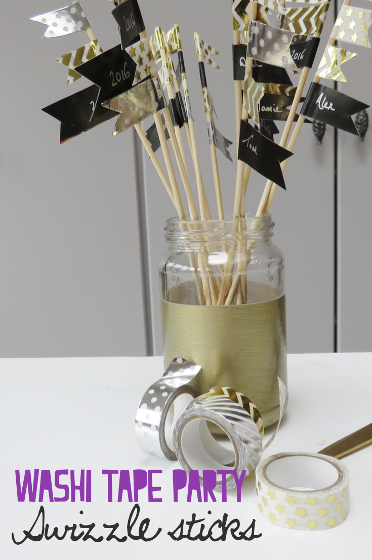 Washi Tape Swizzle Sticks