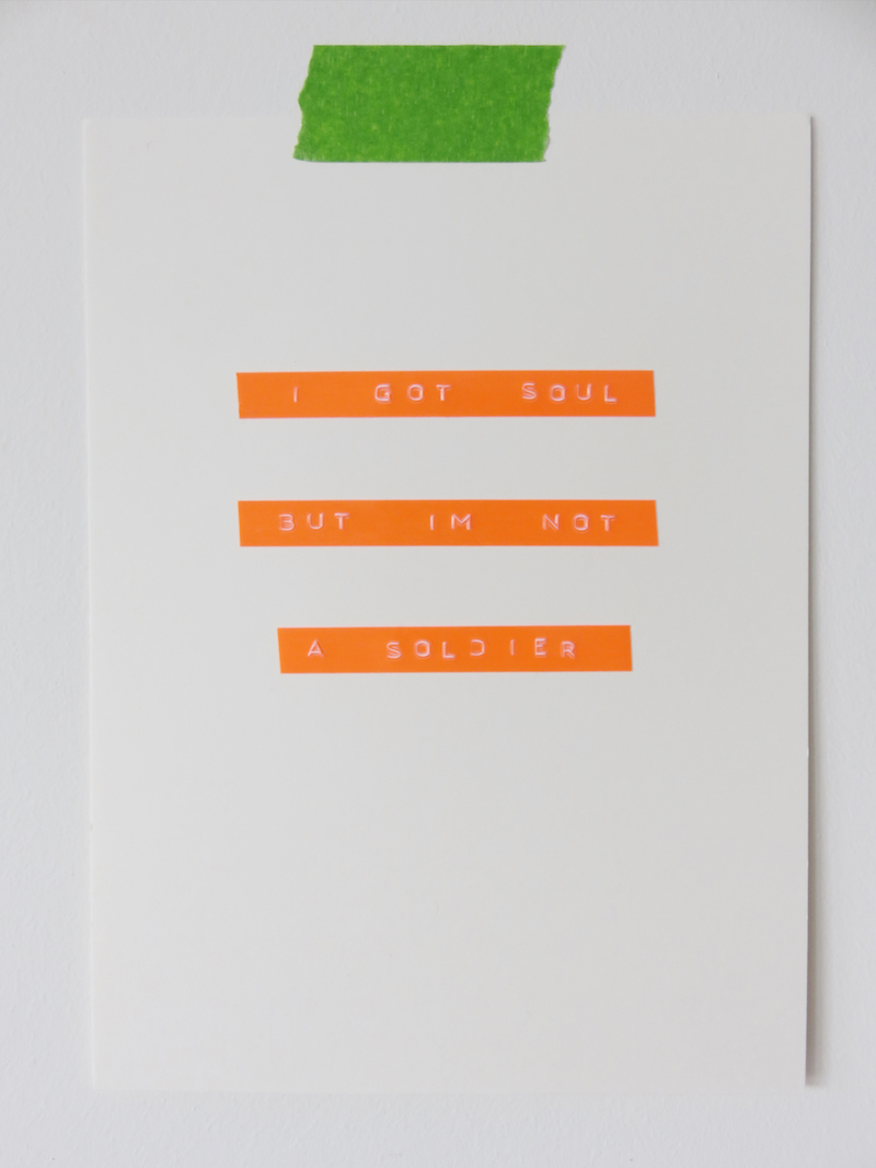 Dymo Tape Poster Idea 6