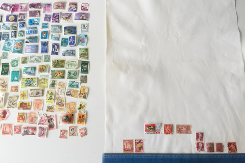 crafting with postage stamps