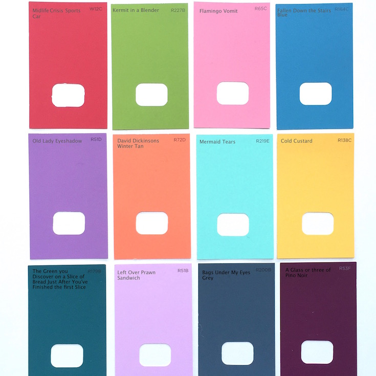 Paint Chip Poster