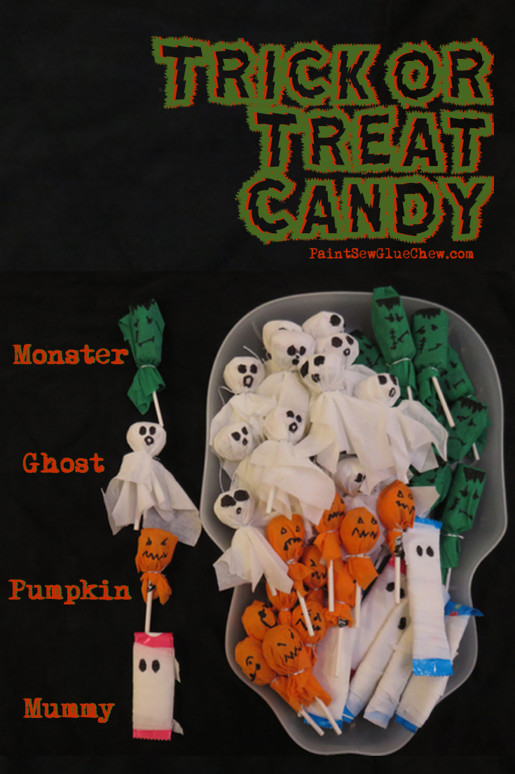 Trick or Treat Lollies: Four Halloween Candy ideas. - PaintSewGlueChew