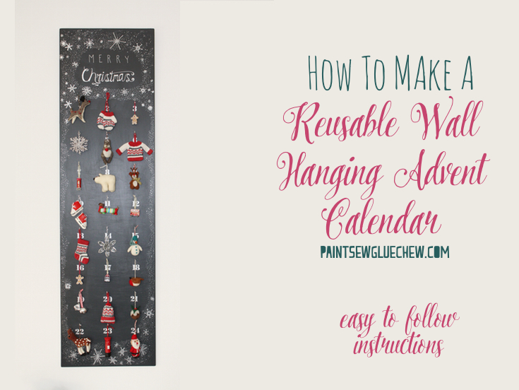 DIY reusable advent calendar
