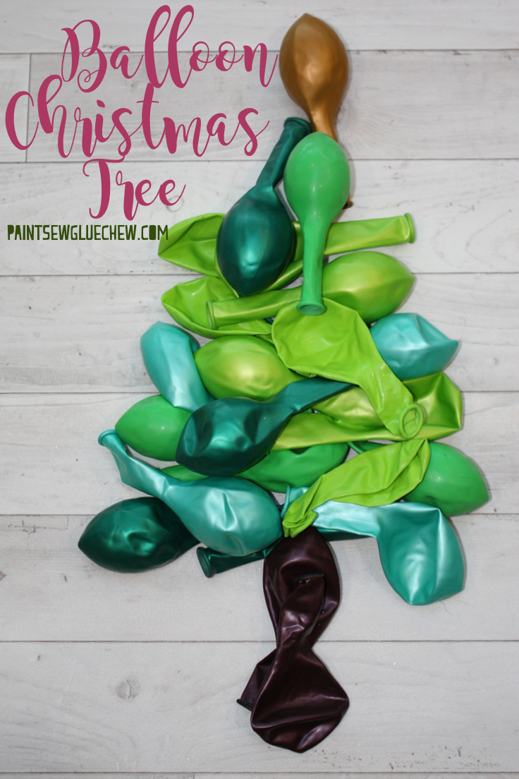 Pile of balloons in the shape of a tree