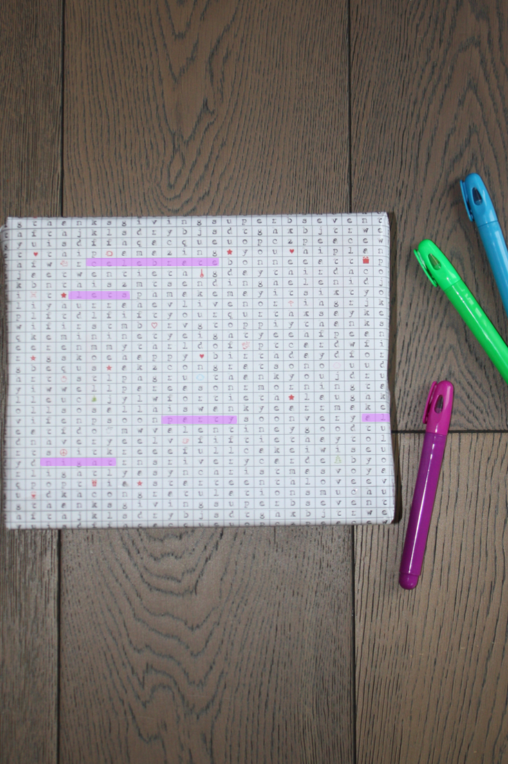multipurpose word search gift wrap