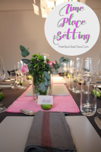 Lime Place Setting