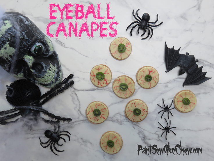 Halloween Eyeball Canapes