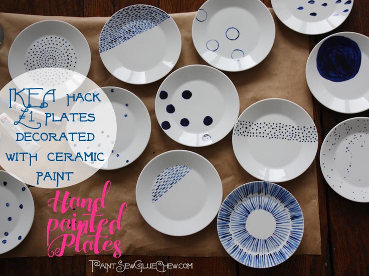 hand painted Plates Ikea Hack