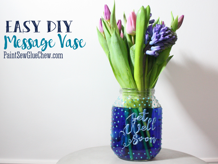 personalised message vase