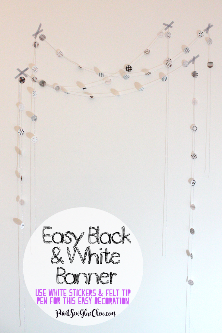 Incredibly Easy Black and White Banner made with Stickers