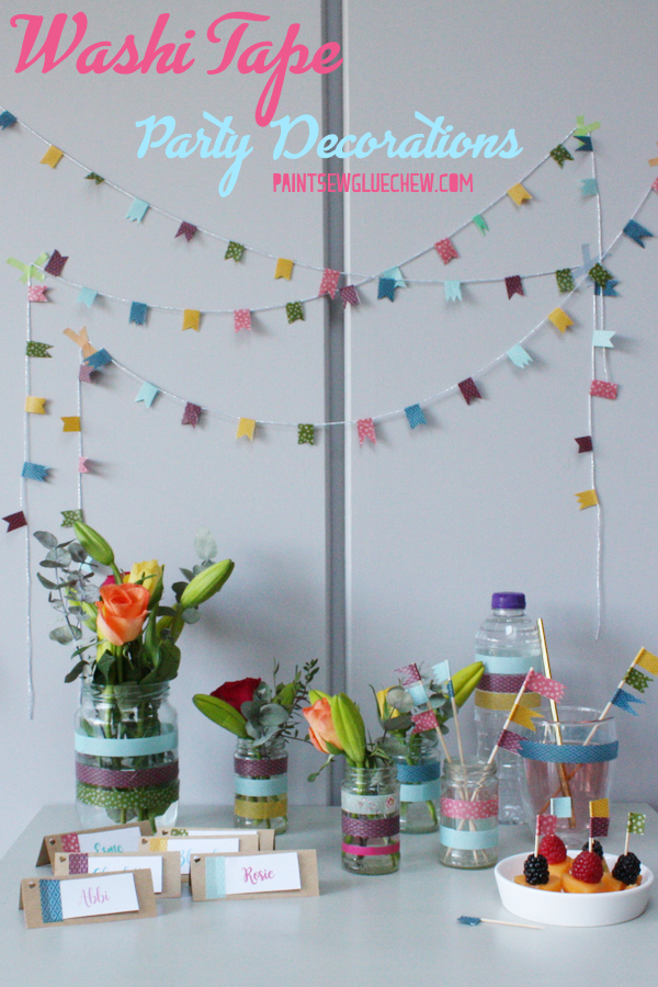 Washi Tape Party Decorations