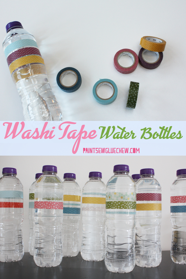 Washi Tape water Bottle