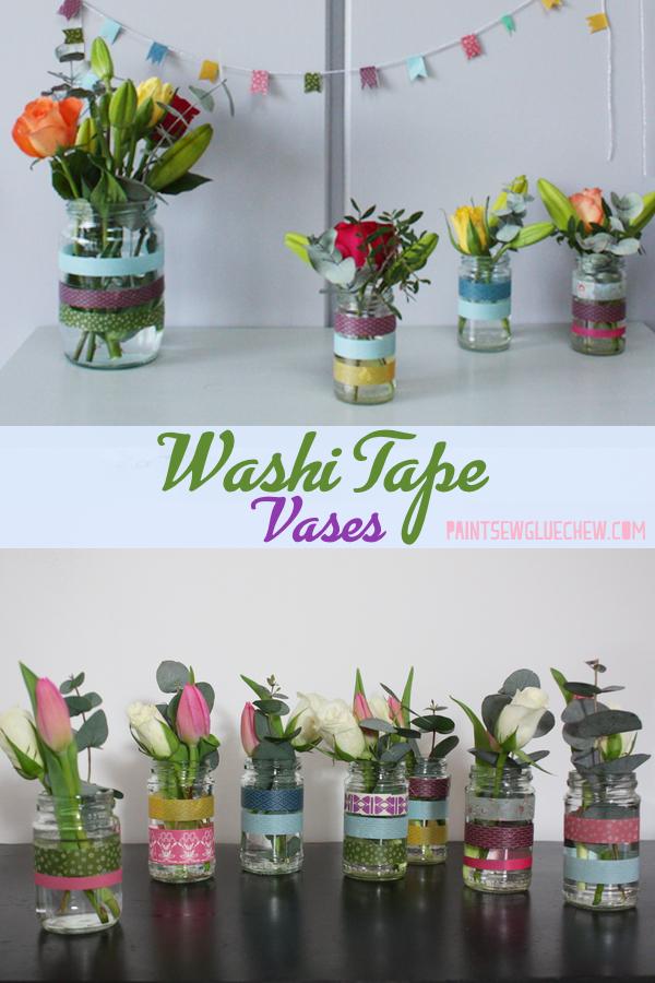 Pretty Washi Tape Vases