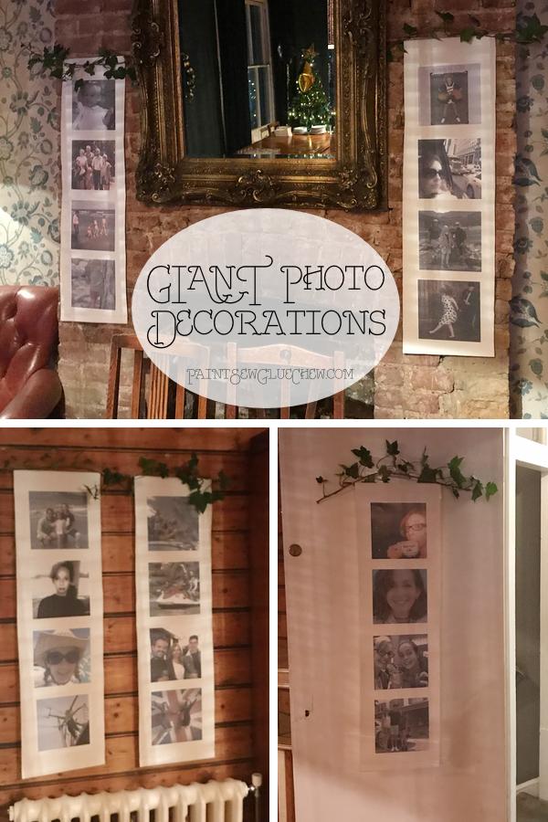 Use photos as party decor
