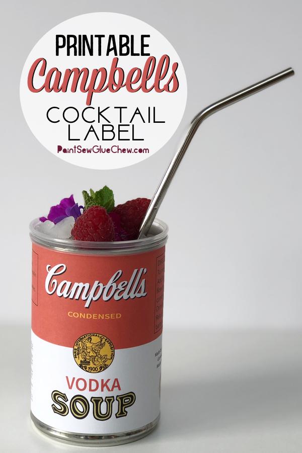 Campbells soup cocktail label