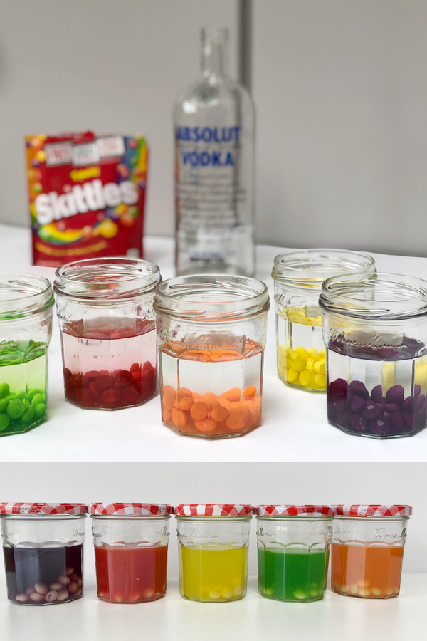 skittles vodka shots