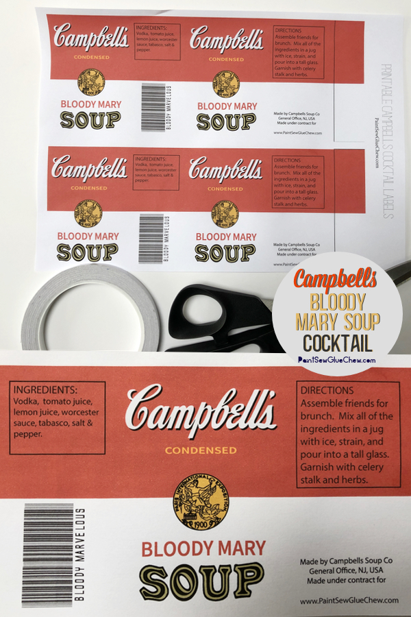 Bloody Mary Campbells Soup Can
