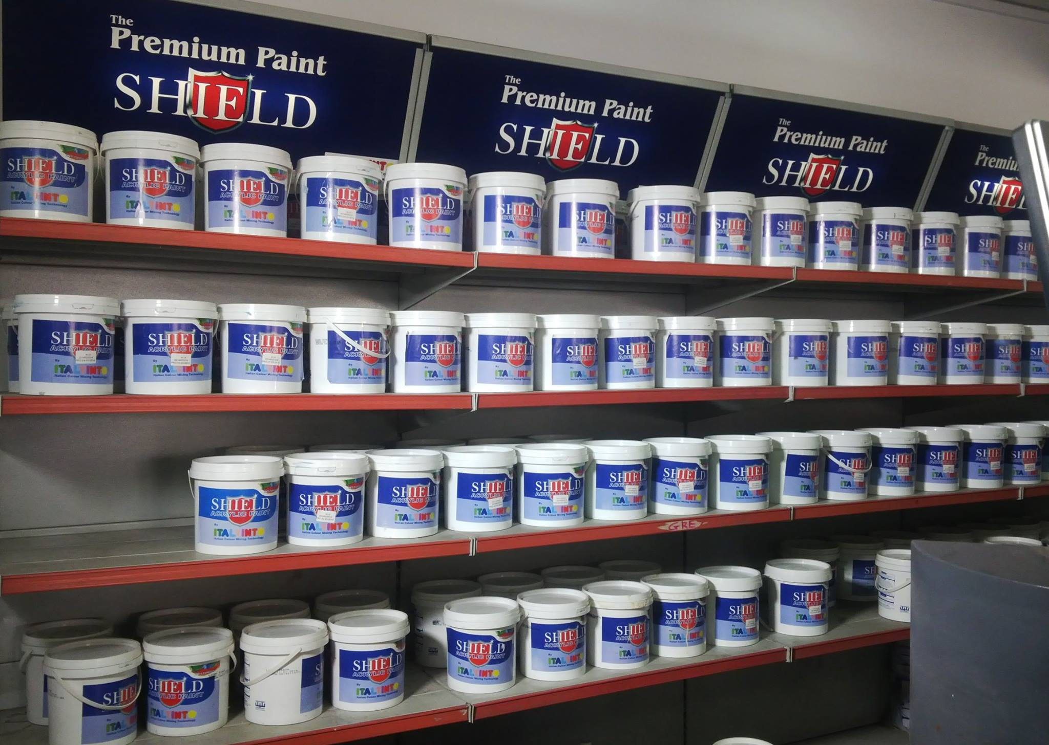 Shield acrylic exterior putty paints ghana com - How fast does exterior paint dry ...