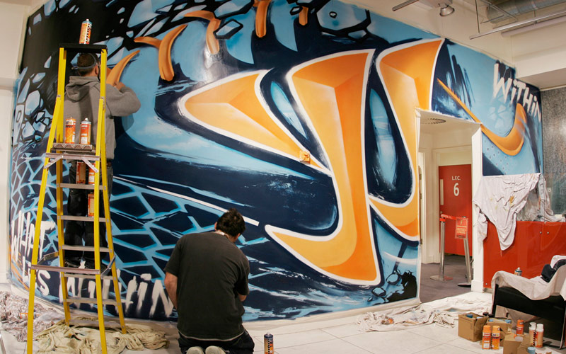 WARRIOR SKREAMER LIVERPOOL FOOTBALL BOOT GRAFFITI MURAL WIP PAINTSHOP