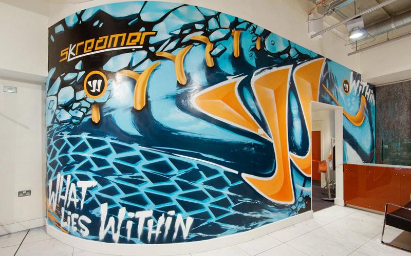 WARRIOR SKREAMER LIVERPOOL FOOTBALL BOOT GRAFFITI MURAL PAINTSHOP
