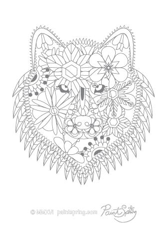 Printable Animal Adult Coloring Book Get 3 Free Pages