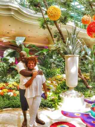 Paint The World With You blogger couple in Las Vegas at the Wynn Hotel.