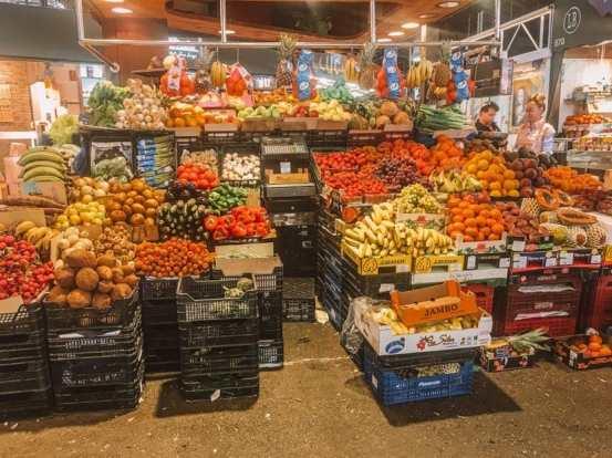 Fruit stand at La Boqueria